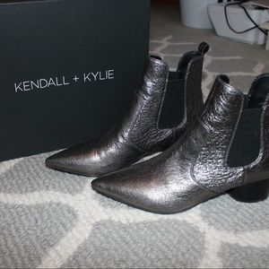 Kendall and Kylie Logan Pointed Toe Boots Metallic